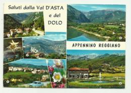 SALUTI DALLA VAL D'ASTA E DEL DOLO - APPENNINO REGGIANO VIAGGIATA FG - Reggio Emilia