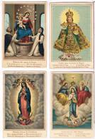 4 Devotieprentjes - Imágenes Religiosas