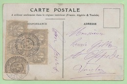 """1c Type BLANC X 5 - Oblitérés Cachet """"OPPEDE VAUCLUSE"""" - 1906 Sur CP - - 1921-1960: Modern Period"""