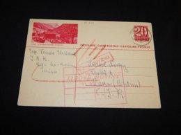 Switzerland 1938 Bex 20fr Red Stationery Card__(L-25327) - Entiers Postaux