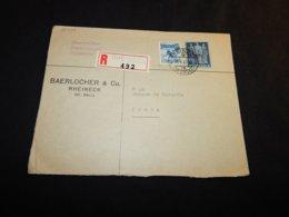 Switzerland 1947 Rheineck Registered Cover To Praha__(L-25373) - Suiza