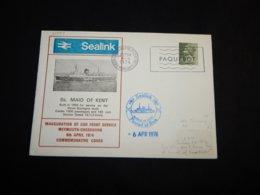 UK 1974 Cherbourg Maid Of Kent Paquebot Cover__(L-31099) - 1952-.... (Elizabeth II)
