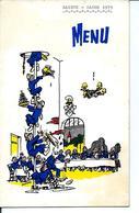 MENU De La Sainte BARBE 1979 - Illustration POMPIERS - Menú