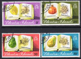 Pitcairn QEII 1982 Fruit Set Of 4, Used, SG 222/5 - Pitcairn Islands