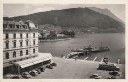 AK - OÖ - Gmunden - Oldtimer U. Autobus Vor Der Anlegestelle Hotel Schwan - 1950 - Gmunden