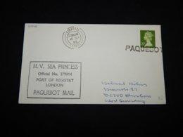 UK 1986 Limassol M.V. Sea Princess Paquebot Cover__(L-30946) - Lettres & Documents