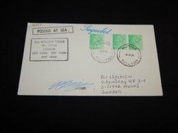 UK 1989 Burnie M.v. Nedlloyd Tasman Paquebot Cover__(L-26854) - 1952-.... (Elisabeth II.)