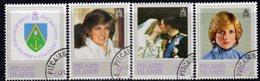 Pitcairn QEII 1982 Princess Diana 21st Birthday Set Of 4, Used, SG 226/9 - Stamps