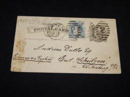 USA 1883 New York S.S. Alaska Ship Mail Stationery Card__(L-27052) - Ganzsachen