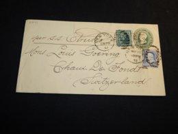 USA 1892 New York Ship Mail Station Envelope To Switzerland__(L-27141) - Enteros Postales