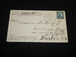 USA 1925 New York S.S. Adriatic Ship Mail Cover__(L-27204) - United States