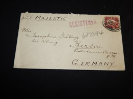 USA 1926 New York S.S. Majestic Ship Mail Cover__(L-27127) - Covers & Documents