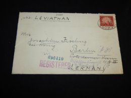 USA 1926 Tremont S.S. Leviathan Registered Ship Mail Cover__(L-27266) - Covers & Documents