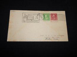 USA 1936 Hoboken M/S Pilsudski Slogan Cancellation Cover__(L-27682) - United States