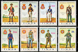 !■■■■■ds■■ Timor 1967 AF#340-347** Military Uniforms Set (x0833) - Timor