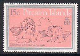 Pitcairn QEII 1982 Christmas 15c Value, Wmk. Crown To Right Of CA, MNH, SG 230w - Stamps