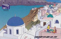 Carte Prépayée Japon - GRECE - ARCHIPEL DE SANTORIN - Paysage - GREECE Rel Japan Prepaid Tosho Card - Site 125 - Paysages
