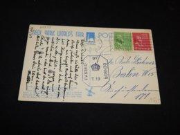 USA 1939 Brooklyn Censored Postcard To Germany__(L-24833) - Etats-Unis