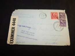 USA 1940 Inglewood Censored Cover To Denmark__(L-24894) - Etats-Unis