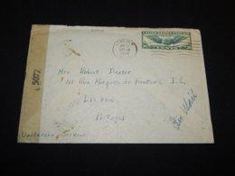 USA 1944 Lincoln Censored Cover To Portugal__(L-24916) - Etats-Unis