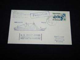 USA 1970's Hamburg USCGC Gallatin Paquebot Cover__(L-27623) - Stati Uniti