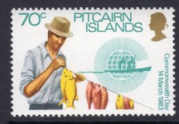 Pitcairn QEII 1983 Commonwealth Day 70c Value, Wmk. Crown To Right Of CA, MNH, SG 236w - Stamps