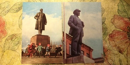 Russie, Russia. Propaganda. LENIN MONUMENT. 2 PCs Lot. 1980s Khabarovsk, Yuzhno Sakhalinsk - Russia