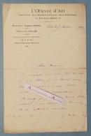 L.A.S 1899 Eugène MUNTZ Revue L'Oeuvre D'Art - Soultz-sous-Forêts - Fontainebleau - Lettre Autographe - Boyer D'Agen - Autógrafos
