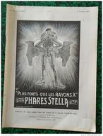 1921 PHARES STELLA - SALON DE L'AUTOMOBILE - ROULEMENTS À BILLES RCF - ANTI VOL FERMOS - Vieux Papiers
