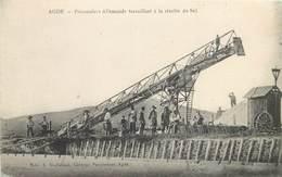 AGDE-prisonniers Allemands Travaillant à La Récolte De Sel - Agde
