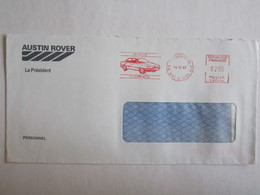 Argenteuil Publicité Lettre Oblitération Austin Rover Automobile Voiture - Postmark Collection (Covers)