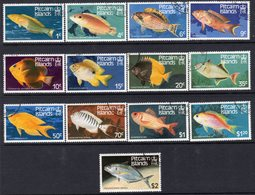 Pitcairn QEII 1984 Fish Definitives Set Of 13, Used, SG 246/58 - Stamps