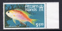 Pitcairn QEII 1984 Fish Definitives $1.20 Value, Wmk. Crown To Right Of CA, MNH, SG 257w - Francobolli