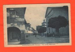Fontanellato Parma Via Sanvitale Cpa Anni '30 - Parma