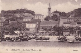 13 / MARSEILLE / L ESTAQUE / LE QUAI ET L EGLISE / LL 72 - L'Estaque