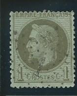 FRANCE: Obl., N°YT 25a, Olive Foncé, TB - 1863-1870 Napoleon III With Laurels