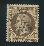FRANCE: Obl., N°YT 30, Brun, TB - 1863-1870 Napoléon III Lauré