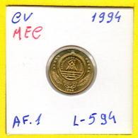 MEC 62 / - Cabo Verde  - / 1 Escudo 1994 / Ex/ Colonia- L-594 - Cap Vert