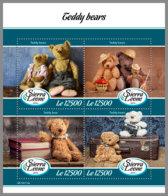 SIERRA LEONE 2019 MNH Teddy Bears Teddybären Ours En Pelouche M/S - OFFICIAL ISSUE - DH1912 - Enfance & Jeunesse