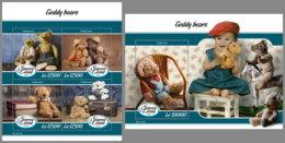 SIERRA LEONE 2019 MNH Teddy Bears Teddybären Ours En Pelouche M/S+S/S - IMPERFORATED - DH1912 - Enfance & Jeunesse
