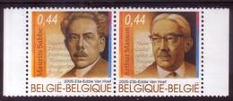 BE 2005 - N° 3464/3465 XX En Paire -   Littérature Populaire - Maurits SABBE Er Arthur MASSON - Belgique