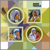 TOGO 2019 MNH Mother Teresa Mutter Teresa Mere Teresa M/S - IMPERFORATED - DH1912 - Mère Teresa