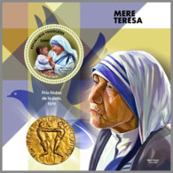 TOGO 2019 MNH Mother Teresa Mutter Teresa Mere Teresa S/S - IMPERFORATED - DH1912 - Mère Teresa