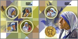 TOGO 2019 MNH Mother Teresa Mutter Teresa Mere Teresa M/S+S/S - IMPERFORATED - DH1912 - Mère Teresa