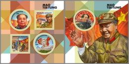 TOGO 2019 MNH Mao Tse-Tung M/S+S/S - IMPERFORATED - DH1912 - Mao Tse-Tung