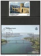 2013-ED. 4794 Y 95 SELLO Y H.B.-SERIE COMPLETA-PUENTES DE ESPAÑA. BESALÚ Y PUENTE DE LOS SANTOS.  RÍA DE RIBADEO-USADO - 2011-2020 Usados
