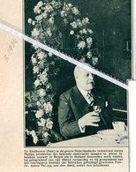 EINDHOVEN..1934.. INDUSTRIEEL ANTON PHILIPS BIJ GELEGENHEID 60e VERJAARDAG EN 40 JARIG BESTAAN VAN PHILIPS - Vieux Papiers