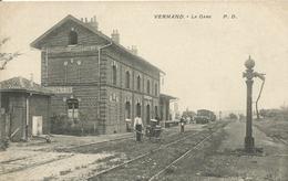 02 VERMAND MARTEVILLE La Gare - Autres Communes