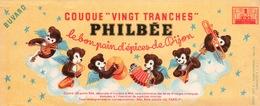 Ancien BUVARD Illustré PHILBEE Pain D'épices De DIJON - Pain D'épices