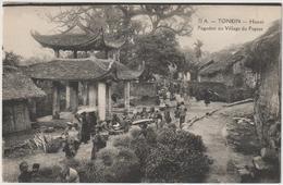 CPA  VIETNAM TONKIN  HANOI PAGODON AU VILLAGE DU PAPIER - Cartes Postales